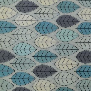 Midi Single - Blue Leaves