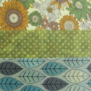 Mini Trio - Flowers & Green Dots