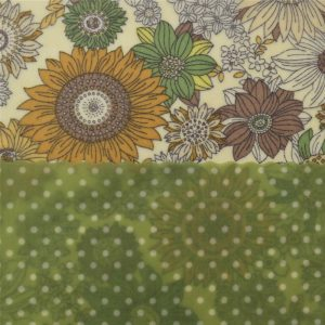 Mini Duo - Flowers & green dots