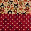 Midi Wrap - Duo, Midi Duo - Geisha & Red Dots