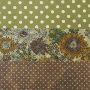 Mini Trio - Green Dots & Flowers