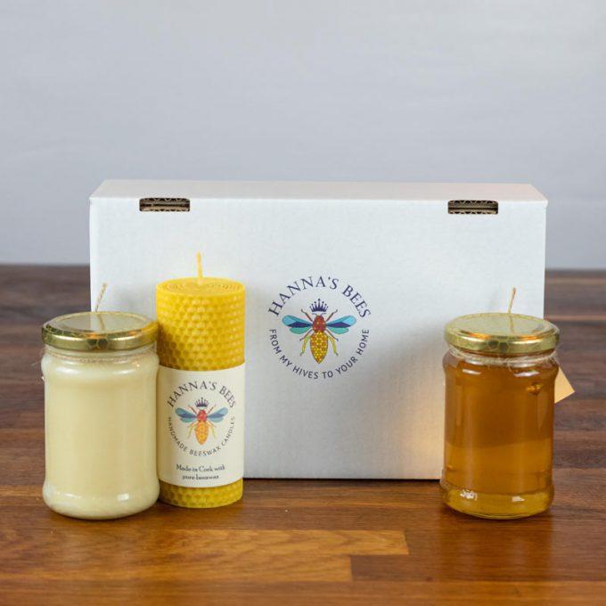 Honey & Candle Gift Set