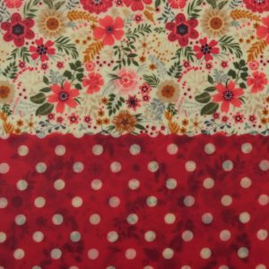 Mini Duo - Red floral & dots